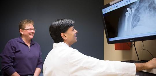Dr Patel with a Patient